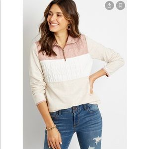 Maurices Quilted Quarter Zip Pullover Sweatshirt